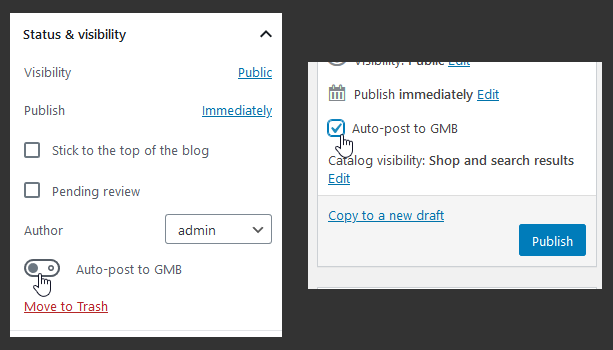 location of auto-post checkbox
