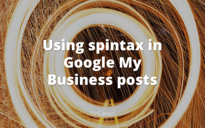 Using spintax in Google My Business posts